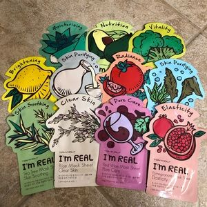 Collection of TonyMoly Face Mask Sheets